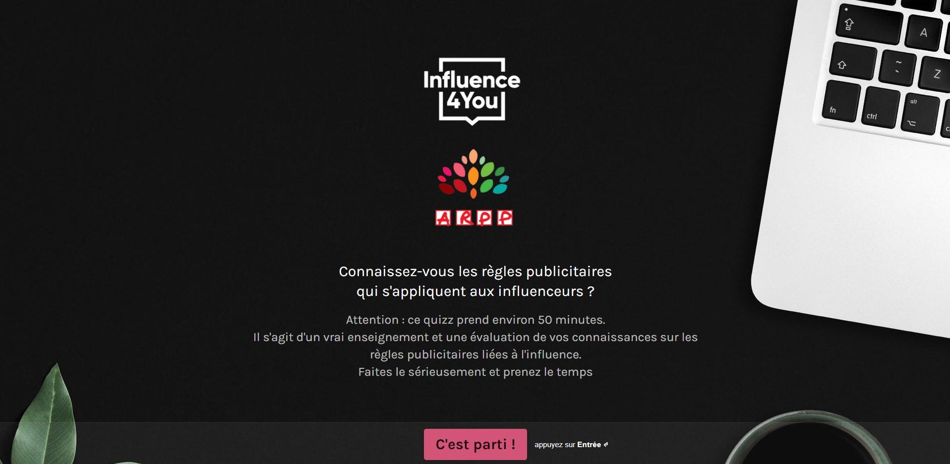 ARPP - Influence4You - Code de la route de l'influence